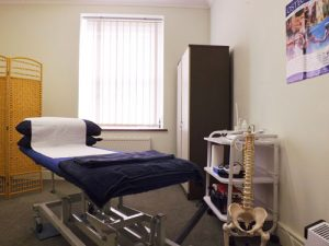Lydeney osteopaths treatment room